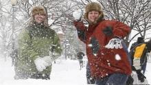 детская игра снежки