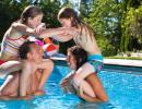 детская игра на воде битва всадников